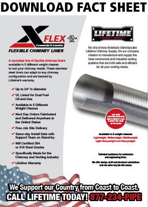 Lifetime Chimney Supply X Flex Commercial Flexible Chimney